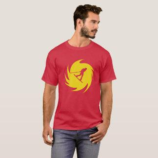 Camiseta del remolino del amarillo de Wakeboard