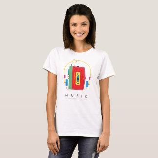 Camiseta del reproductor de casete el | Walkman de