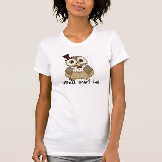 camiseta del retruécano del búho