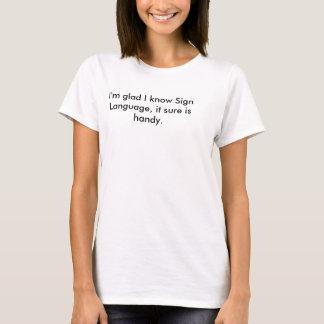 Camiseta del retruécano del lenguaje de signos
