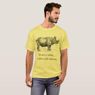 "Camiseta del rinoceronte del ""unicornio gordo"""