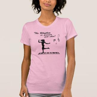 Camiseta del ritmo