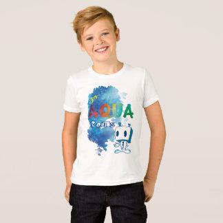 Camiseta del robot de la aguamarina del niño