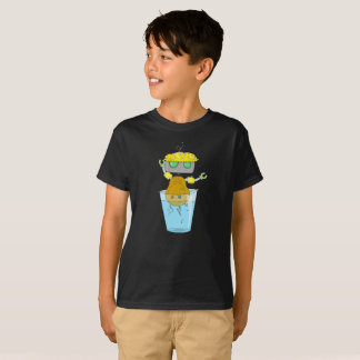 Camiseta del robot de la patata
