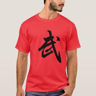 Camiseta del rojo del carácter chino de Kung Fu