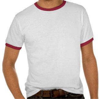 Camiseta del rojo del monopatín de las vacaciones