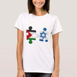 Camiseta del rompecabezas de la bandera del