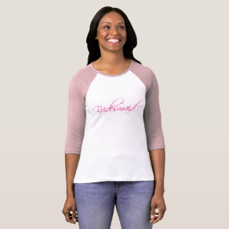 camiseta del rosa de la dama de honor de la