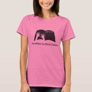Camiseta del rosa de las señoras con el logotipo