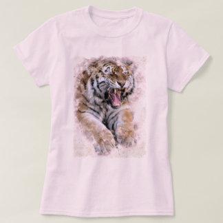 Camiseta del rugido del tigre
