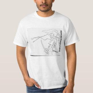 Camiseta del samurai del Afro
