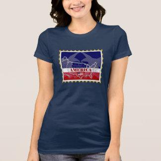 Camiseta del sello de los nombres de los estados