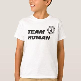 Camiseta del ser humano del equipo del niño