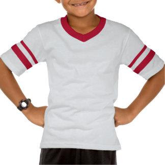 Camiseta del símbolo del poder (blanco y rojo)