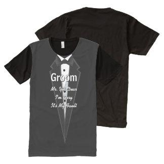 Camiseta del smoking del novio