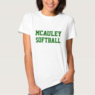 Camiseta del softball de la High School secundaria