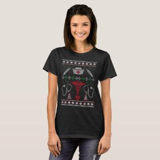 Camiseta del suéter de la enfermera del navidad