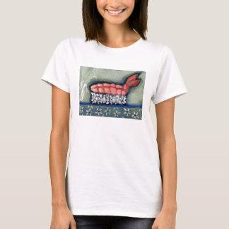 Camiseta del sushi de Ebi del camarón por Campbell