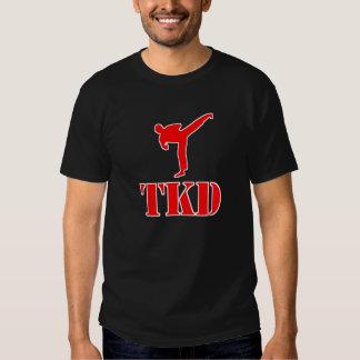 """Camiseta del Taekwondo """"TKD"""" (rojo y blanco)"""