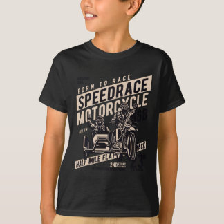 Camiseta del TAGLESS® de los niños de la raza de