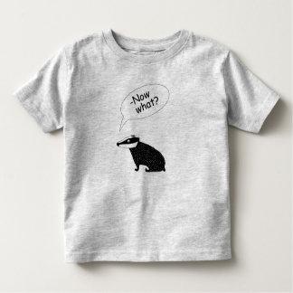 camiseta del tejón para la ley de los niños de la
