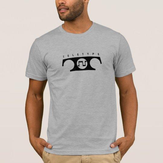 Camiseta del teletipo (pequeño diseño)