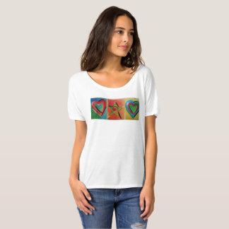 Camiseta del tema del amor