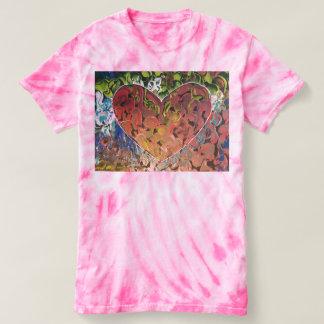 Camiseta del teñido anudado de la textura