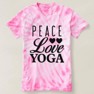 Camiseta del teñido anudado de la yoga del amor de