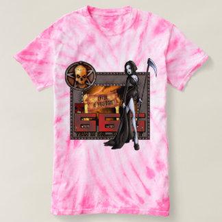 Camiseta del teñido anudado del ciclón de 666