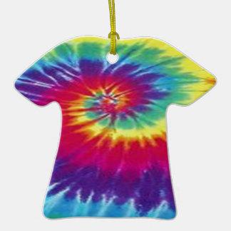 Camiseta del teñido anudado del Hippie Adorno De Cerámica En Forma De Camiseta