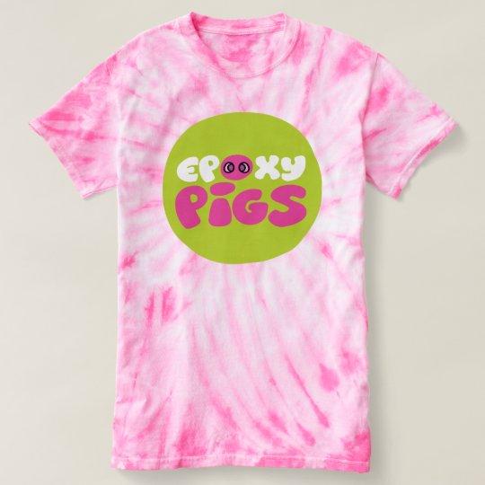Camiseta del teñido anudado para los cerdos de