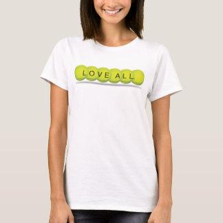 Camiseta del tenis de las mujeres