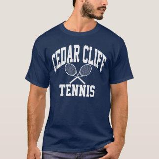 Camiseta del tenis del acantilado del cedro
