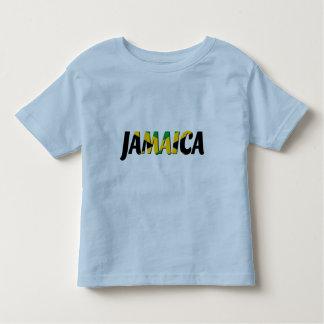 Camiseta del texto de la bandera de Jamaica