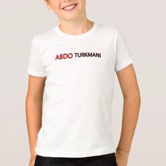 camiseta del texto del turkmani del abdo 3d