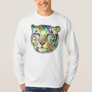 Camiseta del tigre L/S del arco iris