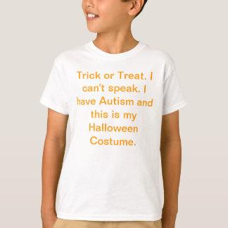 Camiseta del traje de Halloween del autismo