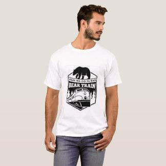 Camiseta del tren del oso de los hombres blancos