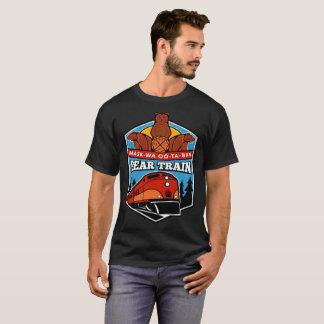 Camiseta del tren del oso de los hombres oscuros
