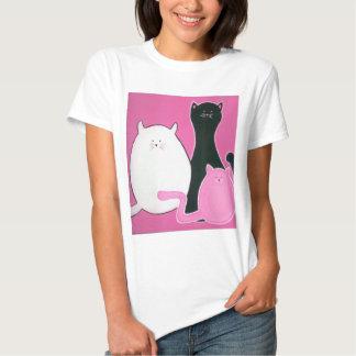 Camiseta del trío del gato