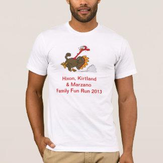 camiseta del trote de pavo