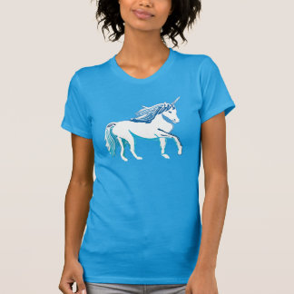 Camiseta del trullo de las mujeres del unicornio