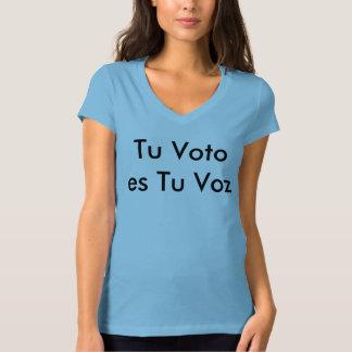 Camiseta del Tu Voto es Tu Voz