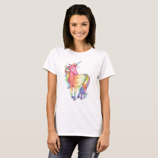 Camiseta del unicornio del arco iris de las