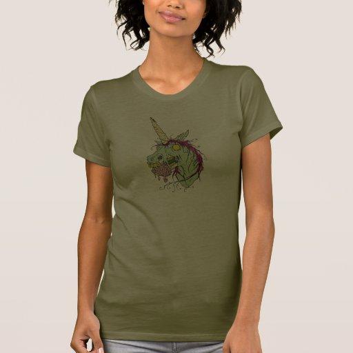 Camiseta del unicornio del zombi