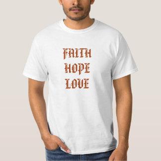 Camiseta del valor del AMOR de la ESPERANZA de la