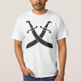 camiseta del valor del icono de la espada del