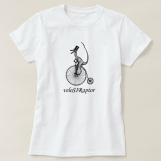 camiseta del velociraptor para las señoras