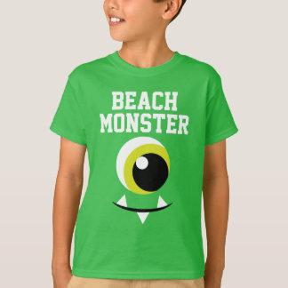 Camiseta del verano del monstruo de la playa del